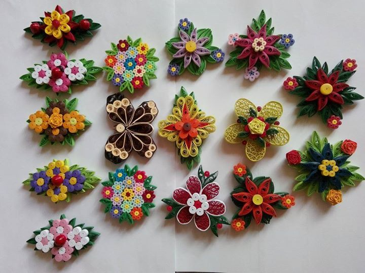 magnets - quilled by: unknown artist
