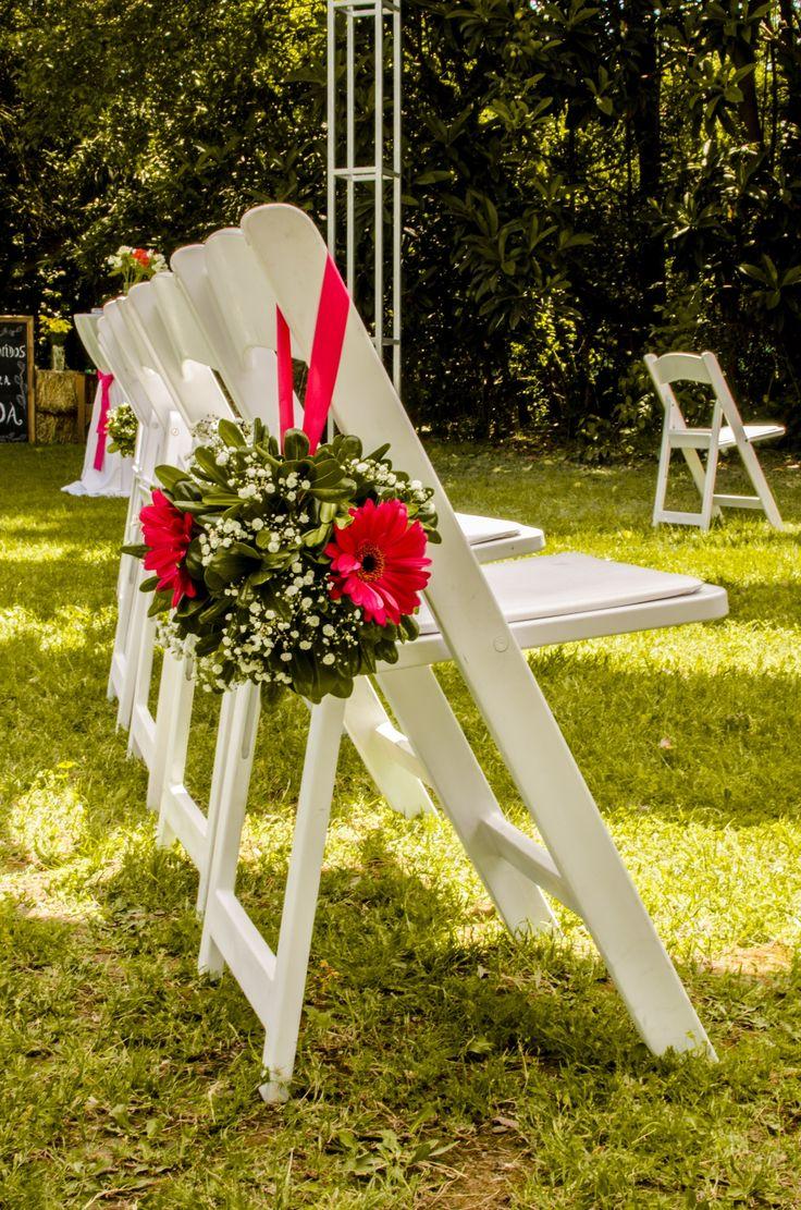 Arreglo de flores en ceremonia