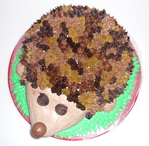 Hedgehog Birthday Cake Instructions