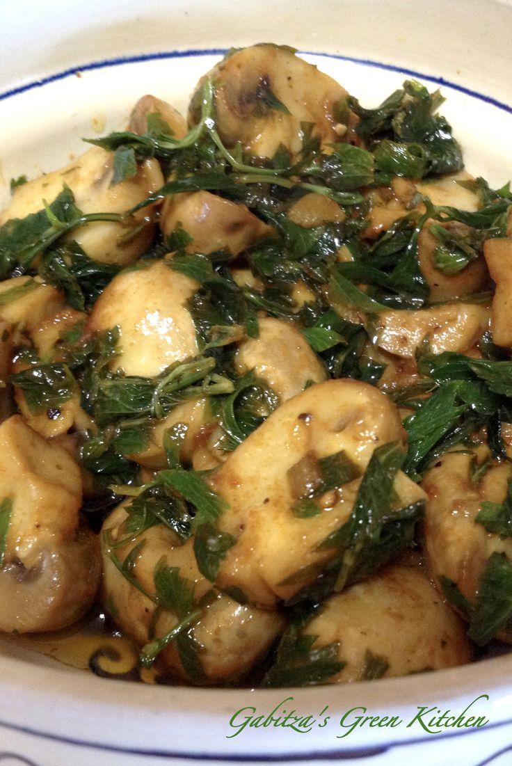 Ciuperci cu Usturoi si Lamaie- un aperitiv delicios