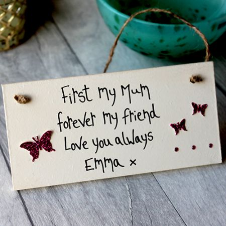 Mothers Day Ideas Personalised Plaque by MadeAt94 - Mum gifts from the heart. Personalized gifts for your mom, mummy, mommy. Write your own words and create lovely mum gifts ideas birthday and Mother's Day.