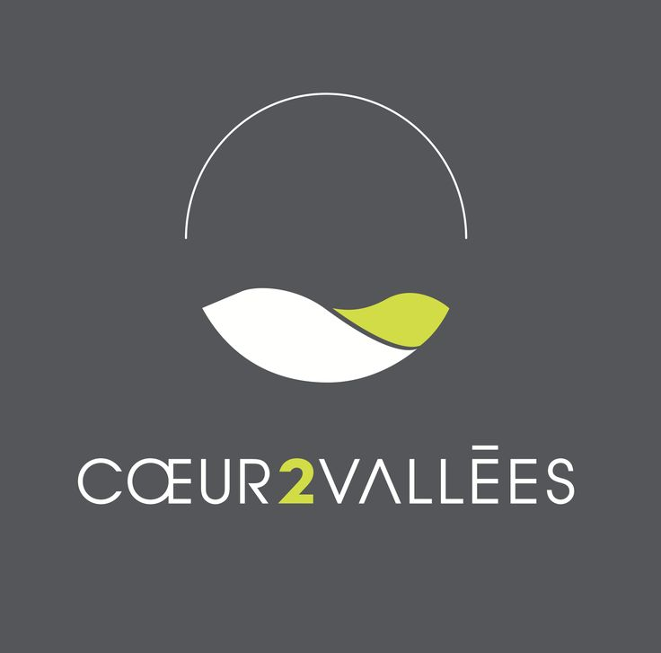 Logo créé par l'Agence La Cocotte pour Cœur 2 vallées, site immobilier en développement. Branding Logo Design Identité Visuelle nature vallée leaf feuille monde world globe circle  horizon round shape smooth curve Creative minimalist Simple Typographie Typo typographic Design Melissa Zambrana Graphisme Paris Graphic Design Agence La Cocotte