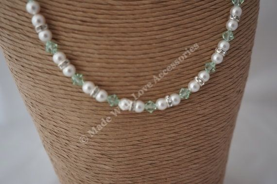Pearl and Crystal Necklace - Bridal Jewellery - Bridesmaids - Bride's Mother £28.00