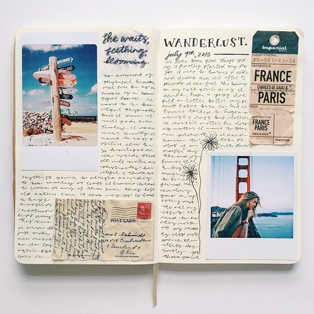 By journalinspiration on Instagram. Although a polaroid camera seems like the greatest thing to have while travelling, the reality is that it's bulky and ultimately inconvenient. This page shows an entirely better way to get that 'vintage look' without compromising your trip (and sanity). With a portable printer, you are able to size photos the way you like, such as using a polaroid template to get photos like the ones above!
