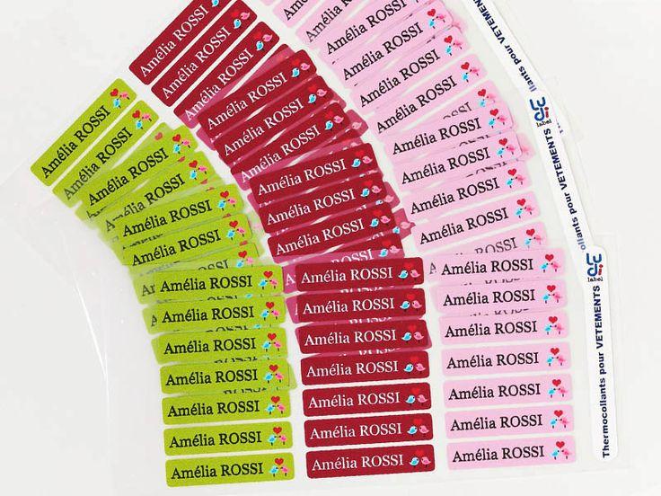Etiquettes thermocollantes vêtements en 24H - LUDILABEL dès 6,90 euros !