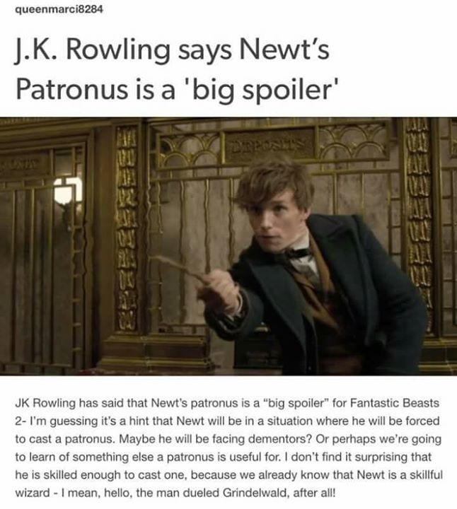 I FUCKING BET HIS PATRONUS WILL SOMEHOW EXPLAIN WHY HE WAS IN THE MARAUDER'S MAP IN THE PRISONER OF AZKABAN