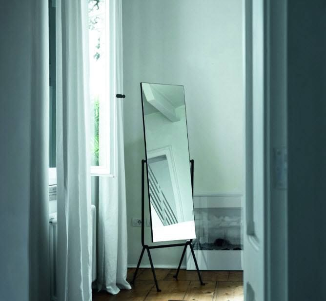 Officina double sided floor Mirror, designed by Ronan & Erwan Bouroullec for Magis.  Get The Originals at www.2ndfloor.gr