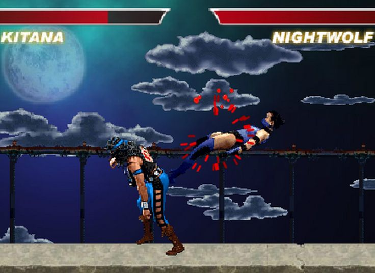 Mortal Kombat remake in flash. Its really a new fighting game. This one is better than ever, with an infinite forest background with no corners, new cool looking moves with very clever use of the sprites, and more! Finish him!