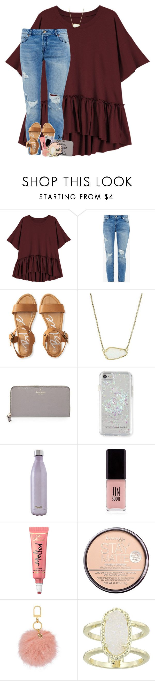 2K?!?! RTD!  by theblonde07 ❤ liked on Polyvore featuring Ted Baker, Aéropostale, Kendra Scott, Kate Spade, Rebecca Minkoff, Swell, JINsoon, Too Faced Cosmetics, Rimmel and Tory Burch