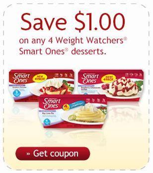 New $1.00/4 Weight Watchers Smart Ones Dessert Coupon!