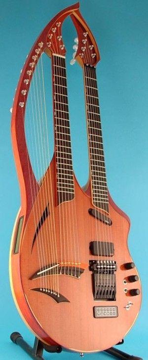 William Eaton Electric Harp Guitar --- https://www.pinterest.com/lardyfatboy/