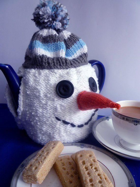 Knitting Pattern for SNOWMAN TEA COSY pdf