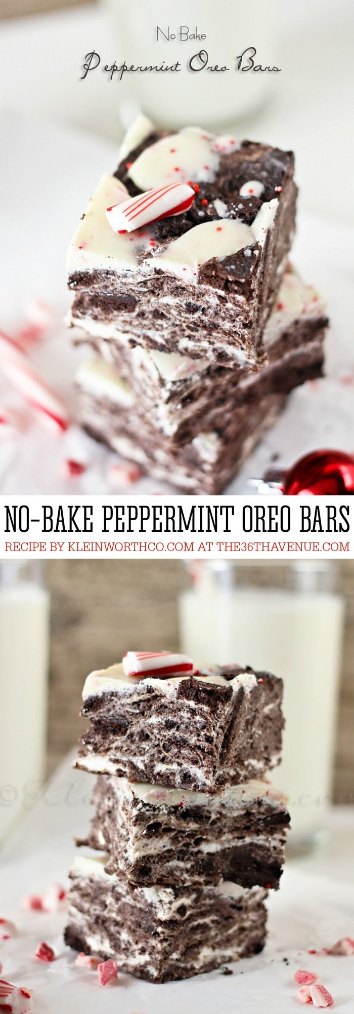 Best Recipes on Pinterest - This No Bake Peppermint Oreo Bars Recipe is amazing and super easy to make! Perfect for Christmas dessert or as a delicious treat or snack! PIN IT NOW and make it later!