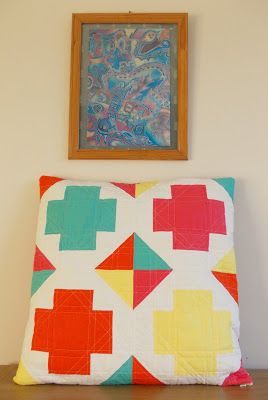 thREDhead: Greek Cross Cushion
