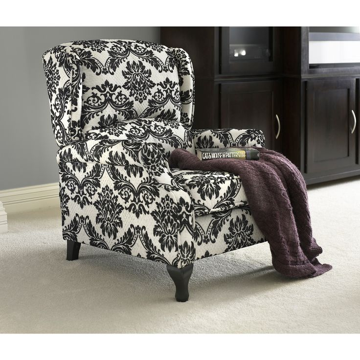 Simple Living Upholstered Wing Recliner With Images