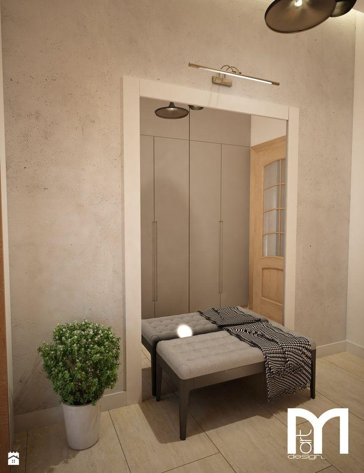 Dom w Brodnicy - Mały hol / przedpokój, styl nowoczesny - zdjęcie od Mart-Design Architektura Wnętrz