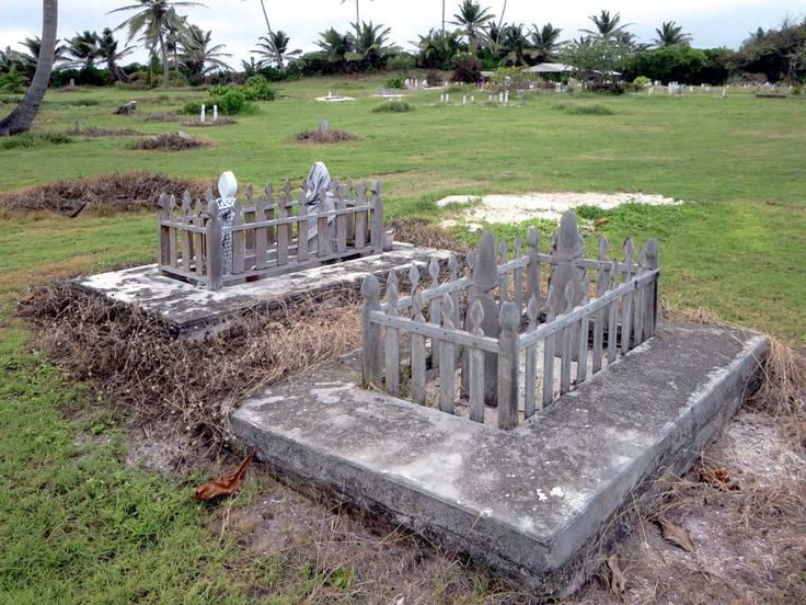 Pulu Gangsa Cemetery is at the north end of Home Island, Cocos (Keeling) Islands.