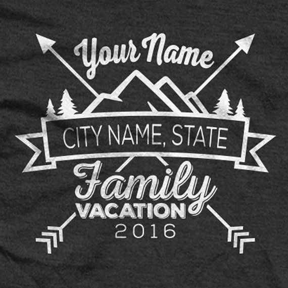 Custom Family Camping in Moutains Vacation Shirts