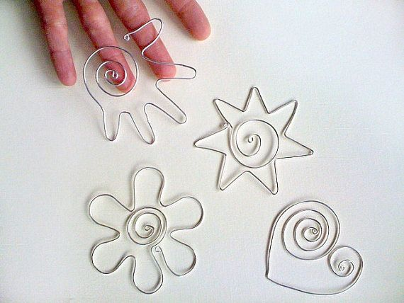 SUPPLIES Set of 4 handmade bookmark silver wire by ArtinGarage, €10.00