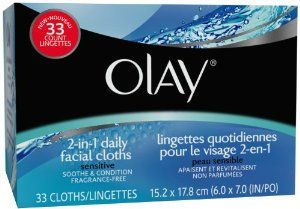 OLAY 2-IN-1 CLOTHS SENSITIVE Size: 33 by PROCTER & GAMBLE CONSUMER. $7.29. Soap-Free. Fragrance-Free. Dermatologist Tested. OLAY 2-IN-1 CLOTHS SENSITIVE Size: 33