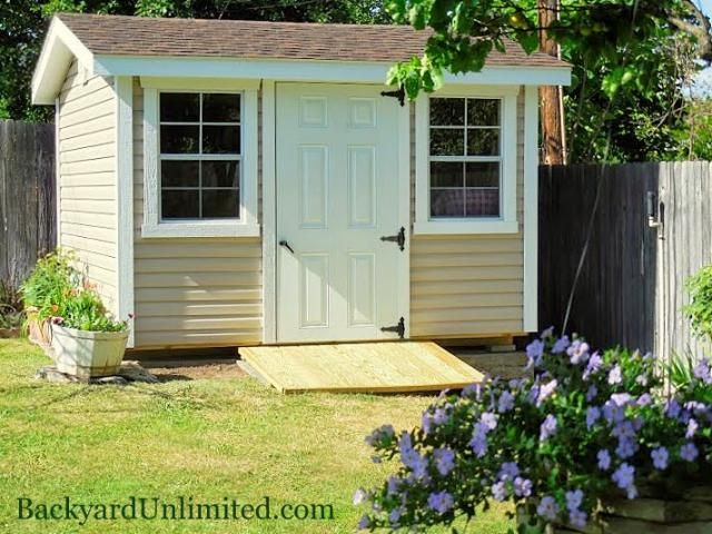 10'x10' Custom Garden Shed with Vinyl Siding, Gable Vents