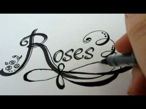 How To Draw Rose Letters With Roses How To Draw Roses