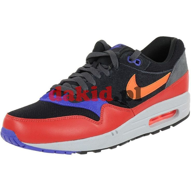 Nike AIR MAX 1 ESSENTIAL · nr kat.: 537383 017 · kolor: black/hyper crimson-red clay
