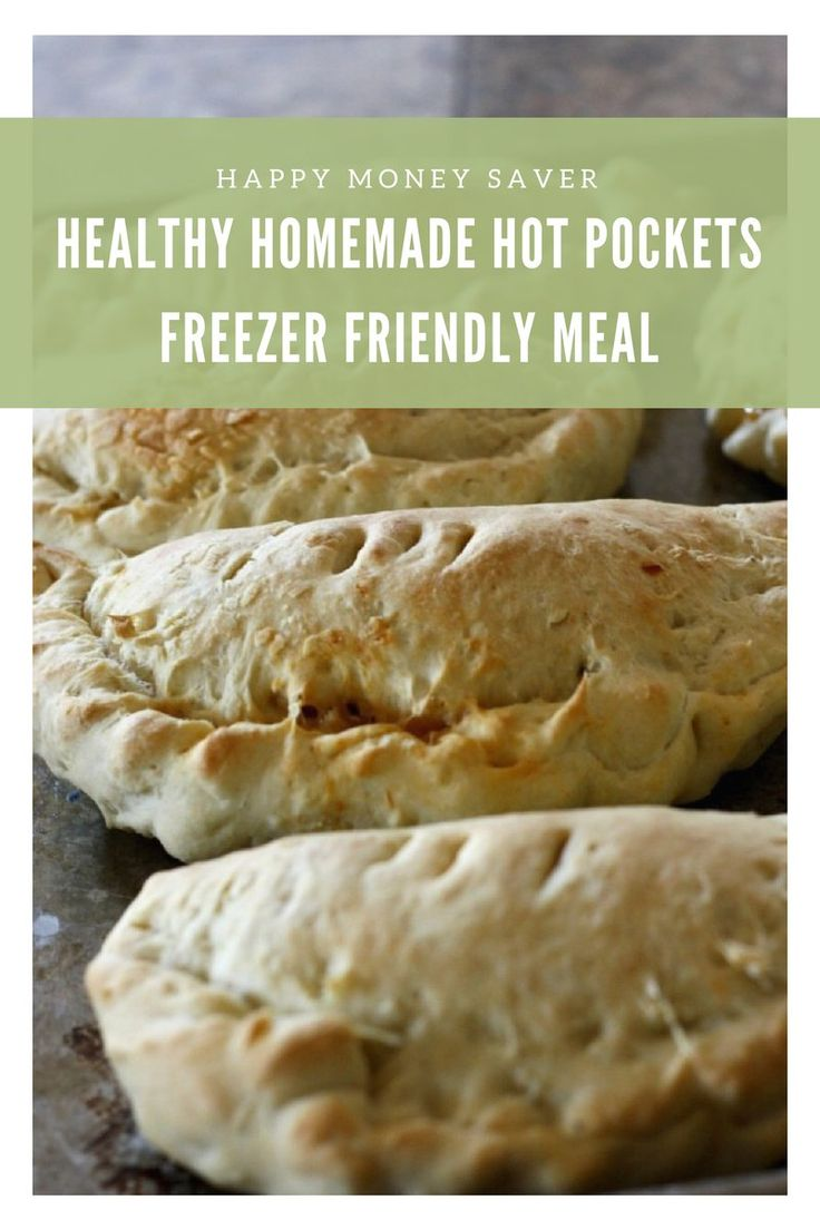 Healthy Homemade Hot Pockets | Freezer Friendly | 66% cheaper than store bought, these homemade hot pockets from scratch are a perfect lunch or snack on the go. Make a huge batch and freeze them for busy afternoons or school lunches.