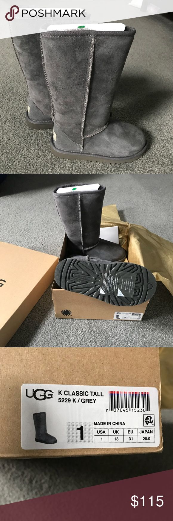 BNIB ❄️ girls UGG boots grey classic tall BNIB ❄️ authentic girls UGG grey classic tall boots sz 1. Never worn...(my daughter didn't want them 😩) UGG Shoes Boots