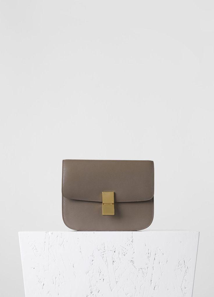 Medium Classic Bag in souris Calfskin Li¨¦g¨¦ - Fall / Winter ...