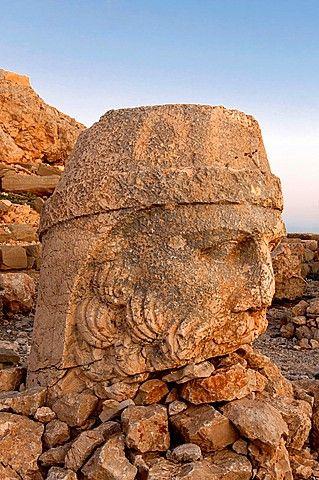 Mount Nemrut sanctuary, Zeus Head, Ruins of the Commagene civilization, 1st century B C , Mount Nemrut, Eastern Turkey