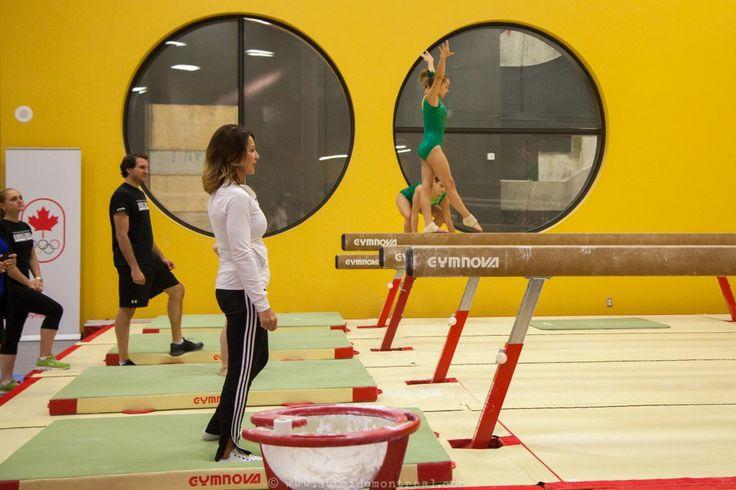 Nadia en su academia de gimnasia / Montreal News