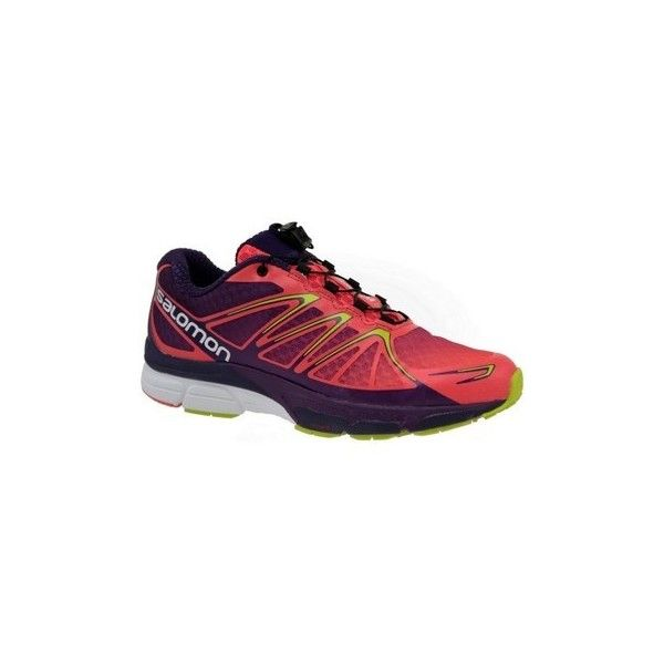 Salomon X Scream Flare W Running Trainers (9,185 PHP) ❤ liked on Polyvore featuring shoes, sneakers, red, running shoes, women, salomon sneakers, red trainers, red shoes, salomon trainers and salomon