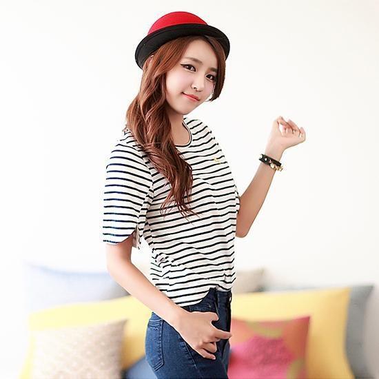 Stripes shirt. Yes please. thehallyu.com