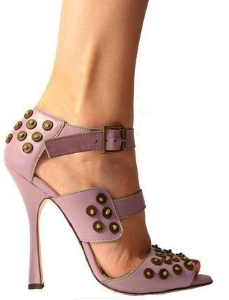 Manolo Blahnik Lavender Studded Sandal