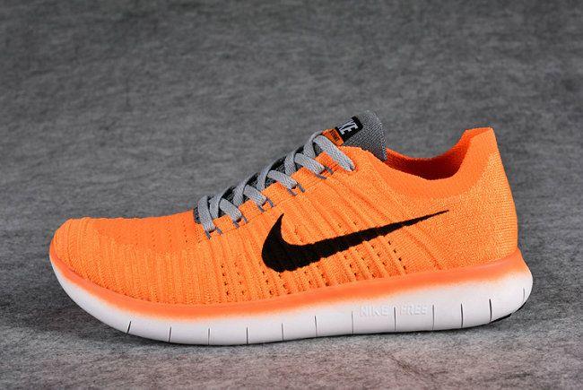 d3193dc1939ab Authentique WMNS Nike Free Rn Flyknit 2016 GS 831070-800 Hot Lava Bright  Citrus