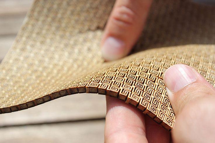Super flexible double curvature surface - laser cut plywood - All