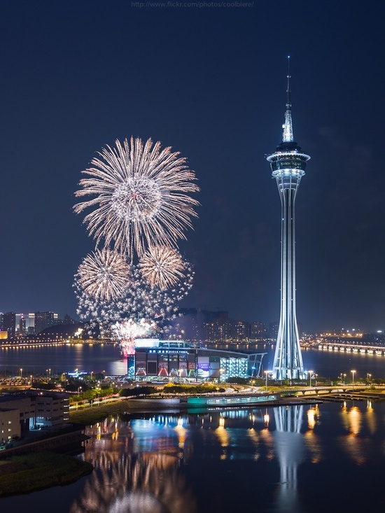 Macau, China - international fireworks como
