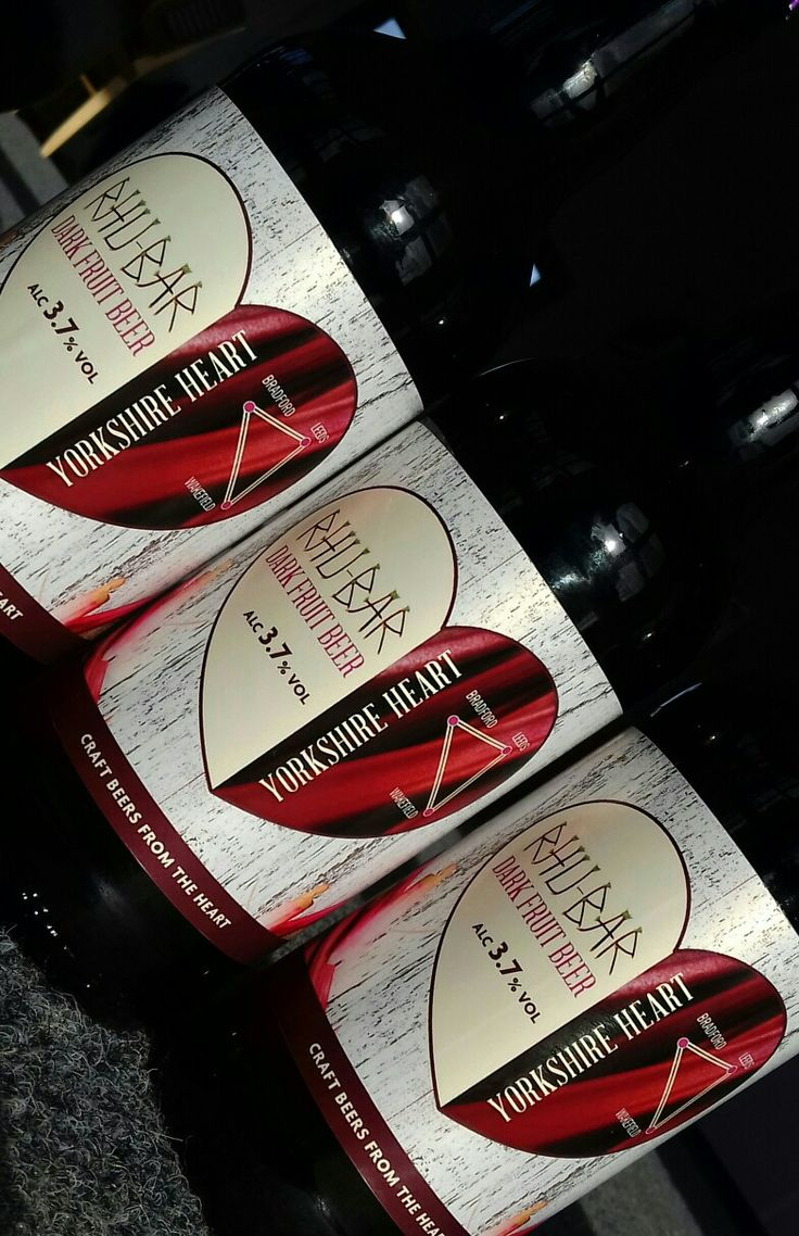 Rhu-bar-beer. From Yorkshire Heart Brewery's. In bottles and cask.