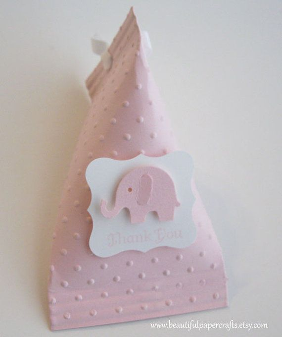 Pink Elephant Baby Shower Favors  Birthday by BeautifulPaperCrafts, $18.00
