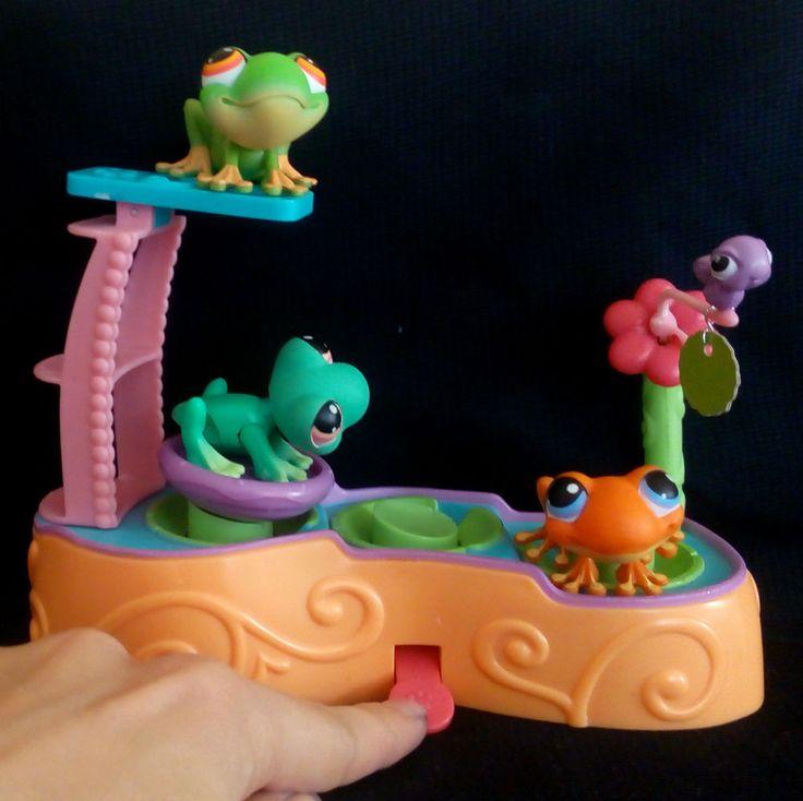 Littlest Pet Shop Leapin Lagoon Set Frog 236 362 1020 LPS Toy HASBRO 2005