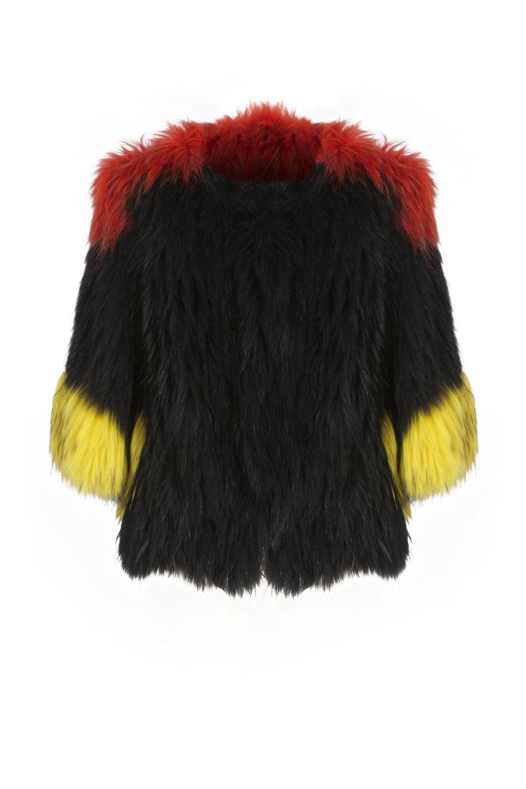 Ágatha coat - Red top black body Shop online in www.beniroom.com