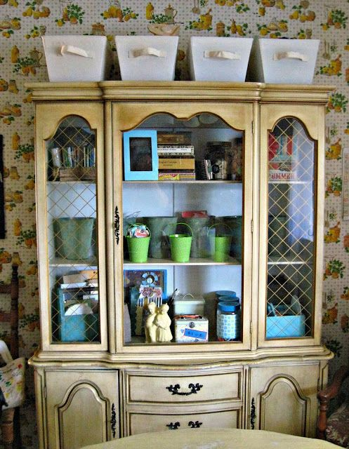 My China Hutch Turned Scrapbook Space Savor This Moment