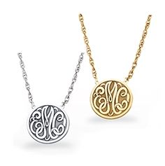 24 best disc necklaces images on pinterest disc necklace initials small letter monogram necklace in gold or sterling silver mozeypictures Choice Image