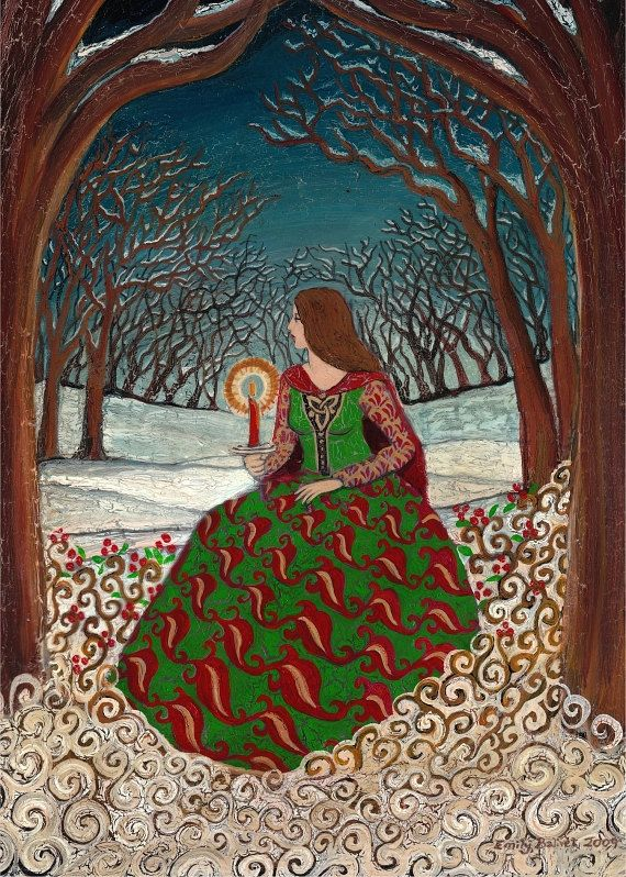 Solstice Queen 5x7 Greeting Card Fine Art Print Pagan