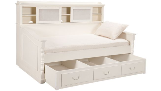 white full size daybed  | Legacy - Olivia - Daybed with Bookcase and Trundle - Daybeds and ...