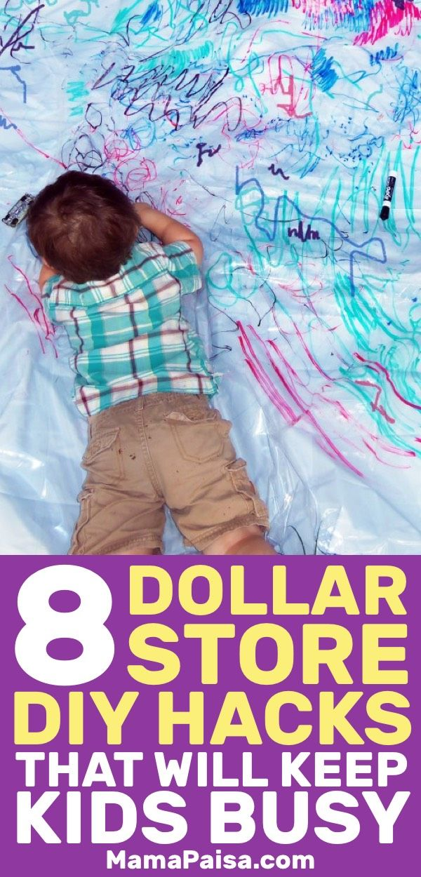 Need kids activities ideas? These Dollar Store hacks will keep your kids busy in a good way and save you some money.