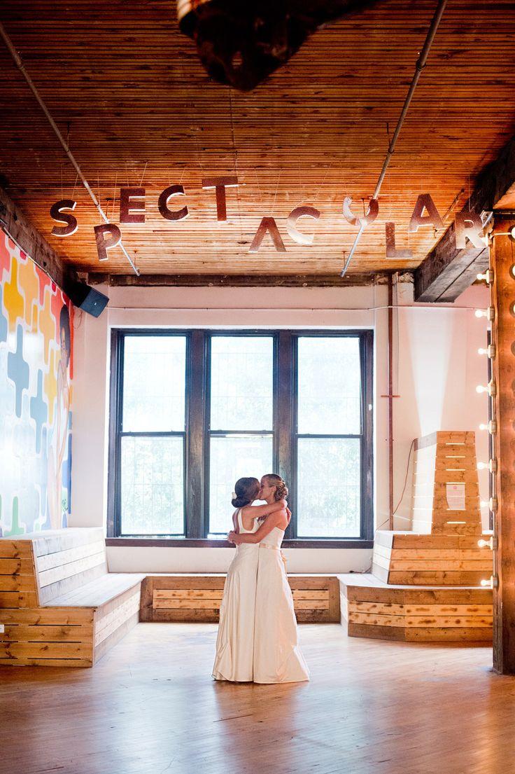 Artist Loft: Chicago Wedding At LaCuna Artist Lofts From Amanda Megan