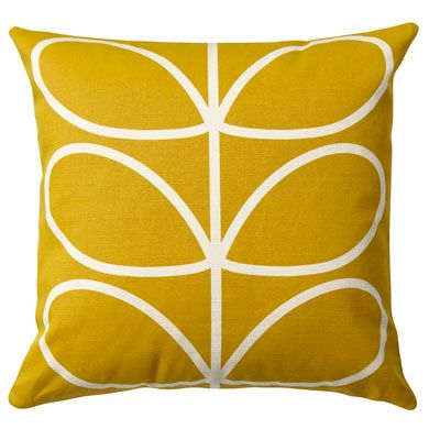 Orla Kiely | UK | House | Living | Linear Stem Cushion (0CUSLST651) | Sunflower
