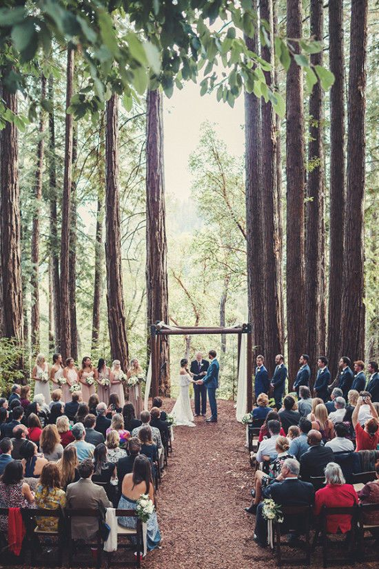 Romantic Boho Chic Forest Wedding.